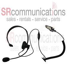 Single ear PTT VOX headset Kenwood TK2180 TK3180 TK2140 TK3140 NX200 NX210 NX300