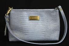 NWT! Brahmin Anytime Mini Bag in Chambray Mason Lizzard. Embossed  Lilac Leather