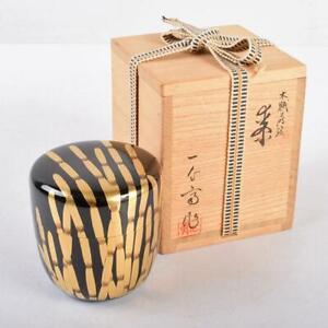 Natsume Tea Caddy Ceremony Container for Tea Powder Sado Traditional Japan D-88