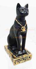 "Ancient Egyptian Decor Miniature Bastet Feline Goddess Figurine Statue 3.25""h"