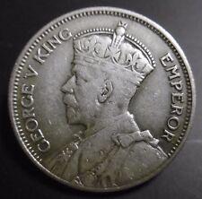 NOUVELLE ZELANDE - one shilling 1935 - GEORGES V - Argent
