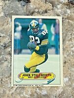 1983 Topps Sticker John Stallworth #27 Pittsburgh Steelers NFL Football Card