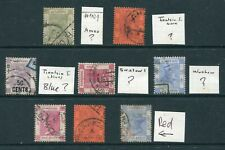 Old Hong Kong GB QV 8 x stamps with Different China I.P.O. H/S Markings Used
