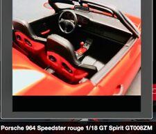 Porsche 964 speedster 1/18 gt008zm Gt Spirits New Rare
