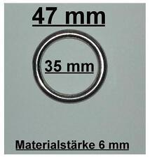 2 Stk.  Ring Edelstahl  AISI316 V4A A4  Gardinenringe geschweißt 6 x 35 mm