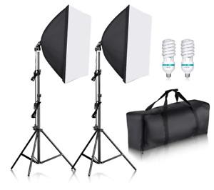 "Neewer 700W Professional Photography 24""x24""/60x60cm Softbox Lights Lighting kit"