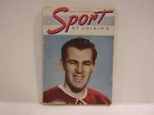 1947 Sport et Loisirs Book With Butch Bouchard On Cover