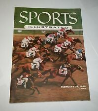 1955 NEWSSTAND ! Sports Illustrated HIALEAH Racing NO LABEL !
