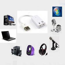 Driverless USB 2.0 External For Laptop Converter Stereo Sound Card Audio Adapter