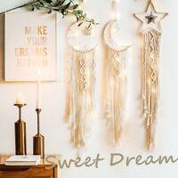 Boho Macrame Dream Catcher Wall Hangings Tapestry Woven Handmade Home Decor UK
