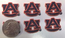 "AU Auburn University Tigers NCAA 1"" size iron on embroidered patch (6 pc. lot)"