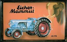 Eicher Mammut 45 PS Piastra Metallo Metallo Metallo Stagno Firmare 20 x 30 cm