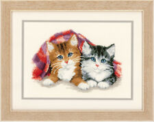 Kitten Under Rug  :  Vervaco  Counted Cross Stitch Kit - PN0145022