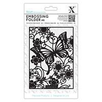 Docrafts Xcut A6 Prägepapier 15x10cm Schmetterling Wiese x Hintergrund