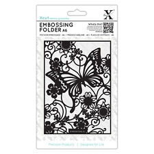 Docrafts Xcut A6 embossing folder 15x10cm BUTTERFLY MEADOW X cut background