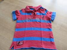 Polo T-Shirt Gr. 98/104 von lupilu rot-blau gestreift, Dinosaurier