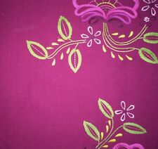 DESIGNERS GUILD Anastasia Irina Floral Embroidery Red Green Remnant New