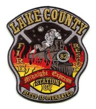 Lake County Fire Rescue Department Station 82 Patch Florida FL Train