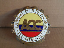 BADGE ORIGINALE SUPERB AND RARE AUTOMOVIL CLUB DE COLOMBIA F.I.A. F.I.A.C. CAR