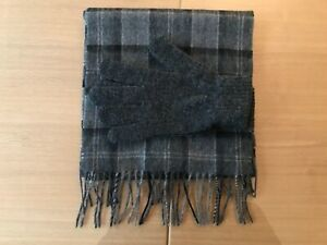 Barbour Grey Scarf & Glove Gift Set - Scarf 100% Lambswool - Brand New with Tags