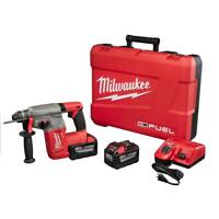 "Milwaukee 2712-22HD M18 FUEL™ 1"" SDS Plus Rotary Hammer Kit, 9.0Ah (New)"