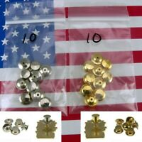 10 Locking Pin Backs for Disney Biker Gold Chrome Police Scouts Military Keeper