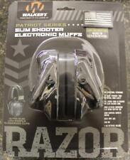 Walker's Muff Razor Slim Electronic Hearing Protector 23 dB Nrr Patriot Black