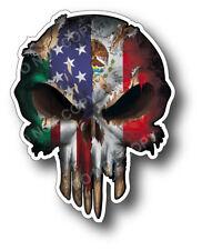 4x USA American Mexican Flag Skull decal Window sticker car truck window Mexico