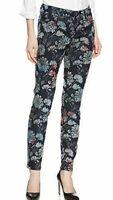 """DESIGUAL Floral Velvet Flock Skinny Stretch Ankle Jeans Sz 28 UK 10 Inseam 30"""""""