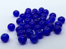 200 PCS 6mm dark blue Crack bead glass round spacer beads jewelry crackle 81h