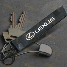 For LEXUS Black Racing Keychain Metal Backpack key Ring Hook Strap Lanyard Nylon