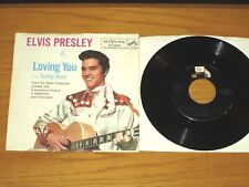"ELVIS 45 RPM with PICTURE SLEEVE - RCA 47-7000 - ""LOVING YOU"" + ""TEDDY BEAR"""
