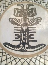 HANDMADE AFRICA DECORATED STOOL * ESTATE ITEM * AGE