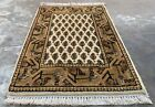 Authentic Hand Knotted Vintage Badam Gul Mir Wool Area Rug 2 x 1 Ft (1461 KBN)