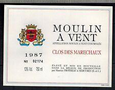Etiquette Grand Vin Beaujolais - Moulin A Vent - Clos Des Marechaux - Réf.n°89