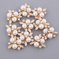 10 pcs Kristall Blume Strass Perlen Flatback Button Knöpfe DIY Deko