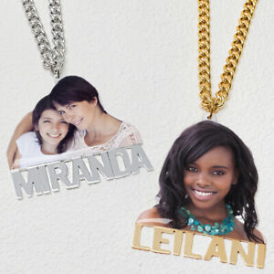 Personalised Picture Necklace Custom Photo Necklace with Name Gift for Her