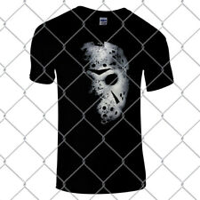Jason Voorhees Hockey Mask Premium black regular fit horror T Shirt friday 13th