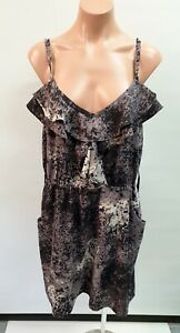 💜 CITY CHIC Strappy Ruffle A-Line Dress Multicolor Size S+ Buy7=FreePost L861