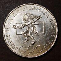 Mexico 1968 25 Pesos Silver Olympic Commemorative Coin