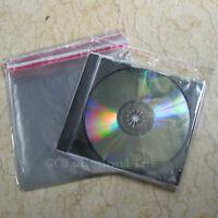 Lot of 100 OPP Plastic Bag CD Box Jewel Case Wrap bags