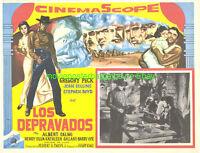 THE BRAVADOS MOVIE POSTER 1958 LOBBY CARD GREGORY PECK