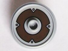LEGO - Minifig, Shield Round with Stud and Ring Around Edge - Flat Silver