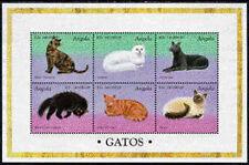 Angola, Sc#1023, MNH, 1998, cats, S/S, Souvenir Sheet, FFAIAS8Z