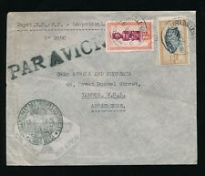 BELGIAN CONGO TROUPES COLONIALES AIRMAIL to GB FRANCE MILITARY