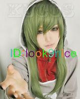 Kagerou Project/Mekaku City Actors Kido Tsubomi long green cosplay wig + Wig Cap