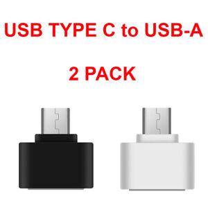 2-Pack USB C Adapter Hi-speed USB Type C to USB-A 3.0 2PCS Data OTG Converter