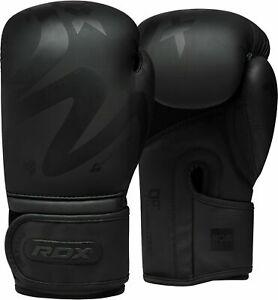 RDX Boxing Gloves Training Leather Mitt Sparring Muay Thai Punch Bag Kickboxing