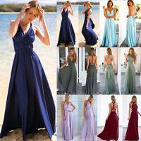 Multi Way Dress Convertible Women Bridesmaid Maxi Full Length Wrap Party Dresse