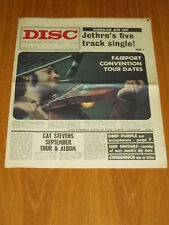 DISC AND MUSIC ECHO AUGUST 14 1971 JETHRO TULL CAT STEVENS FAIRPORT CONVENTION
